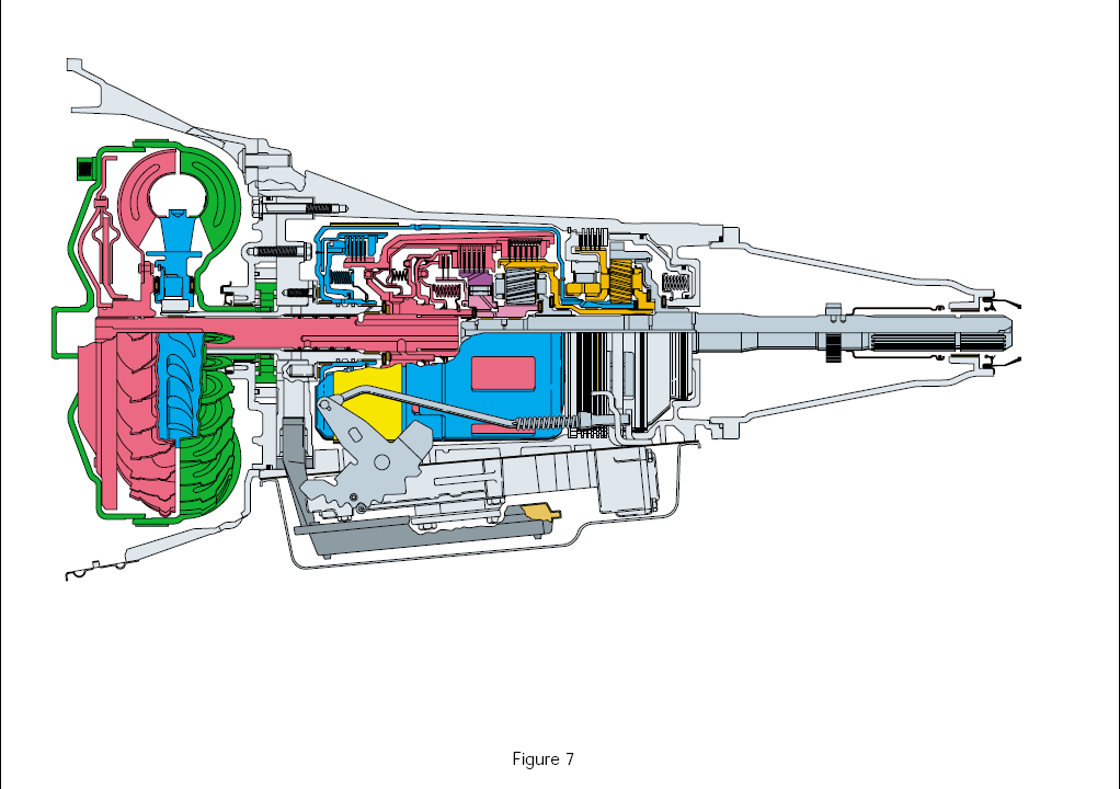 cut-away view of the 4L60E transmission